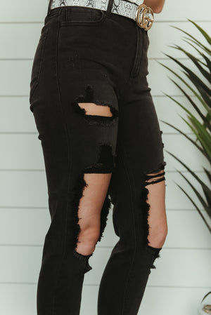 The Gretchen High Rise Jeans ~ Charcoal