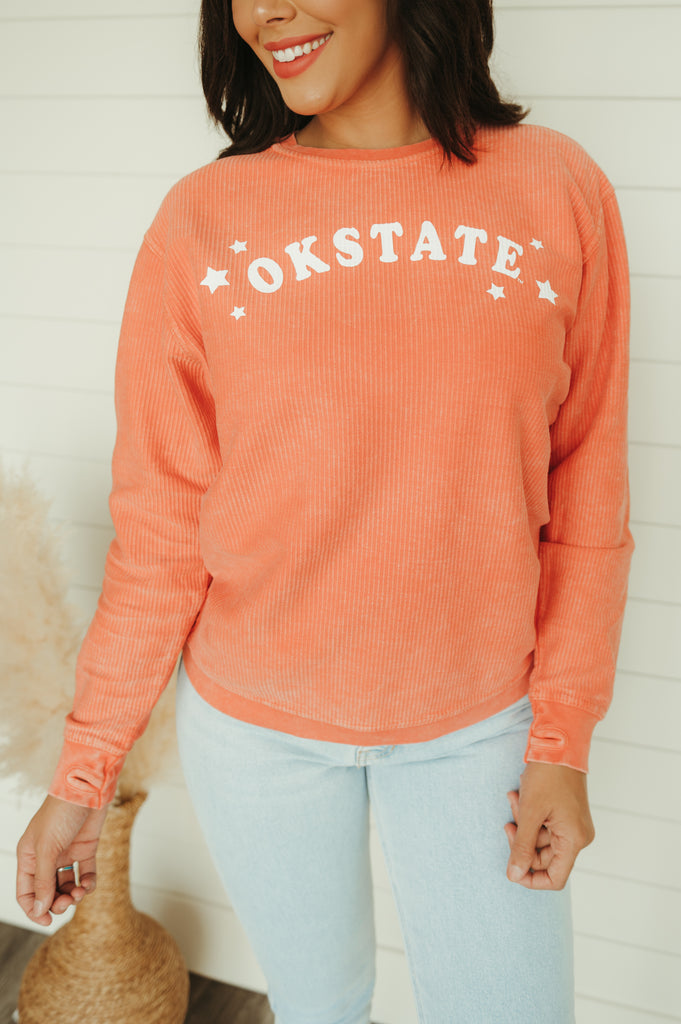 OSU: Confetti & Floral Sweater - J. Lilly's Boutique