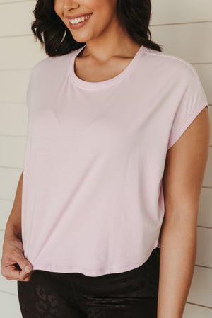 Rise Up Boxy Crop Top~Lilac