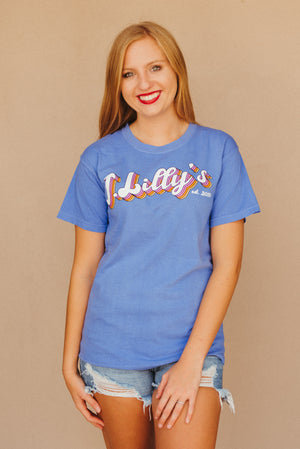 Retro J. Lilly's Unisex T-Shirt ~ Flo Blue - J. Lilly's Boutique