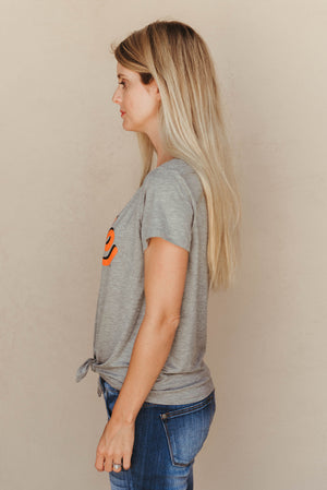 Oklahoma State Tie Front Tee - J. Lilly's Boutique