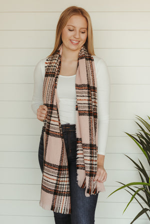 Pink Flannel Scarf