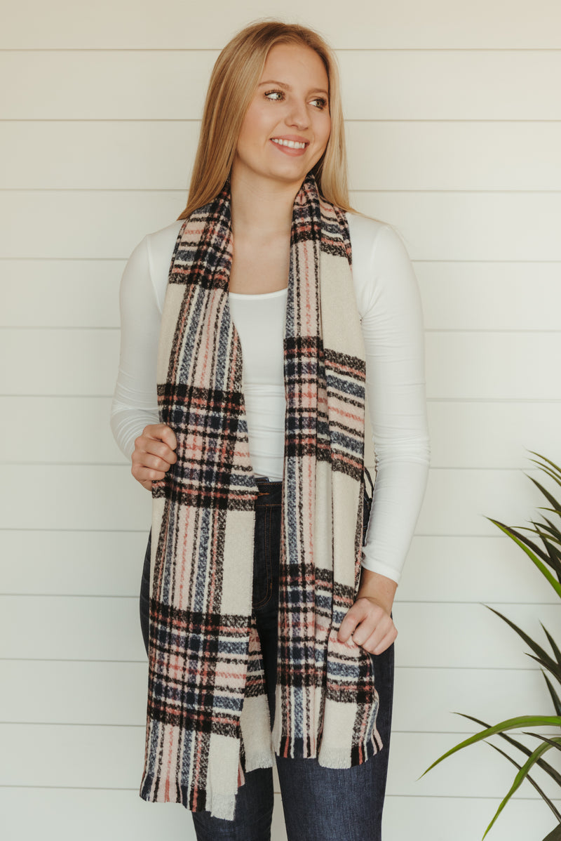 Ivory Flannel Scarf