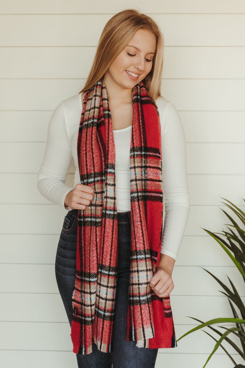 Red Flannel Scarf