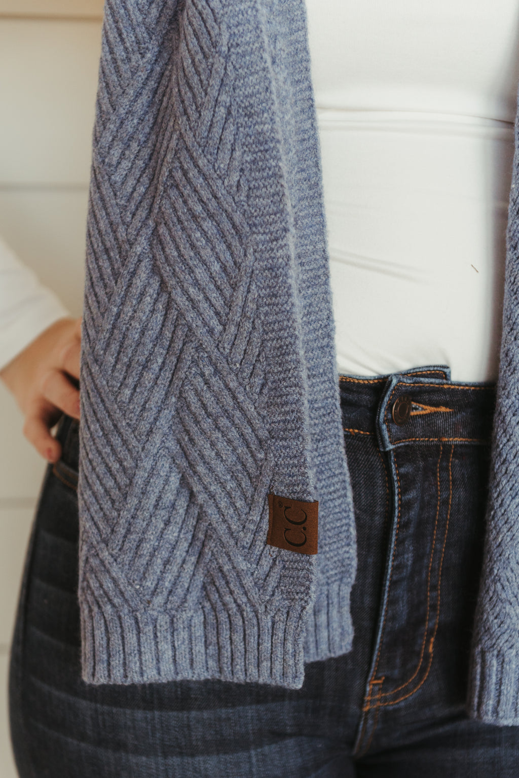 Patterned C.C. Scarves~Denim