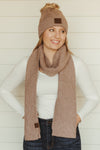 Patterned C.C. Scarves~Taupe