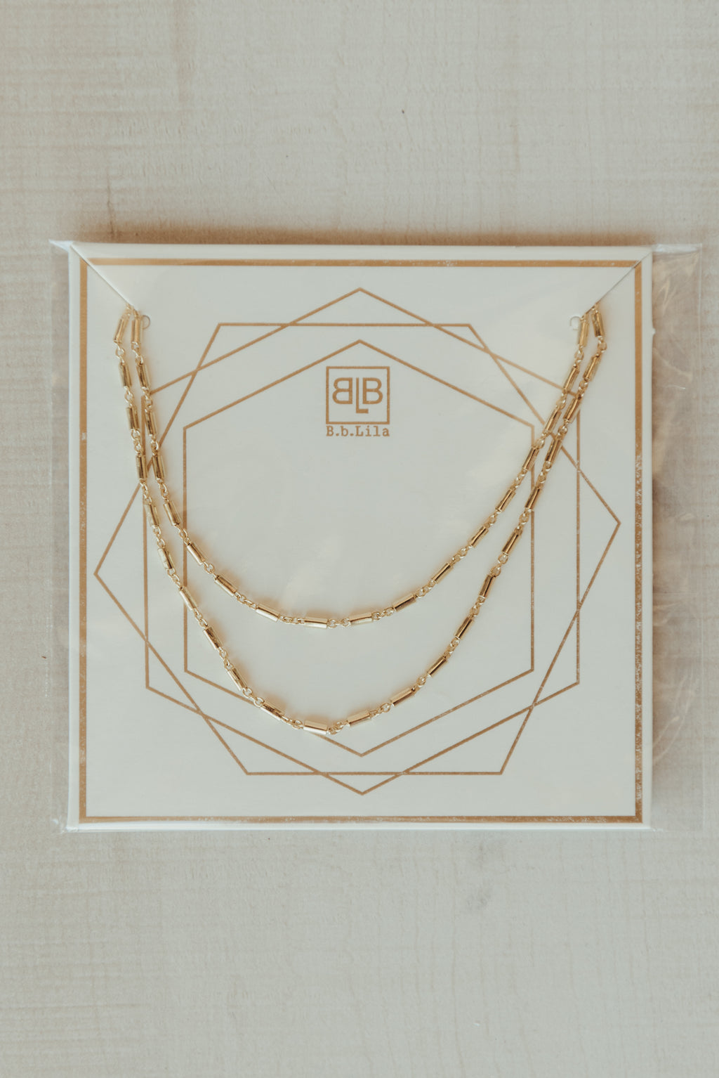 Simple Link Layered Necklace ~ Gold