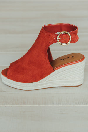 Charlotte Wedge ~ Brick - J. Lilly's Boutique