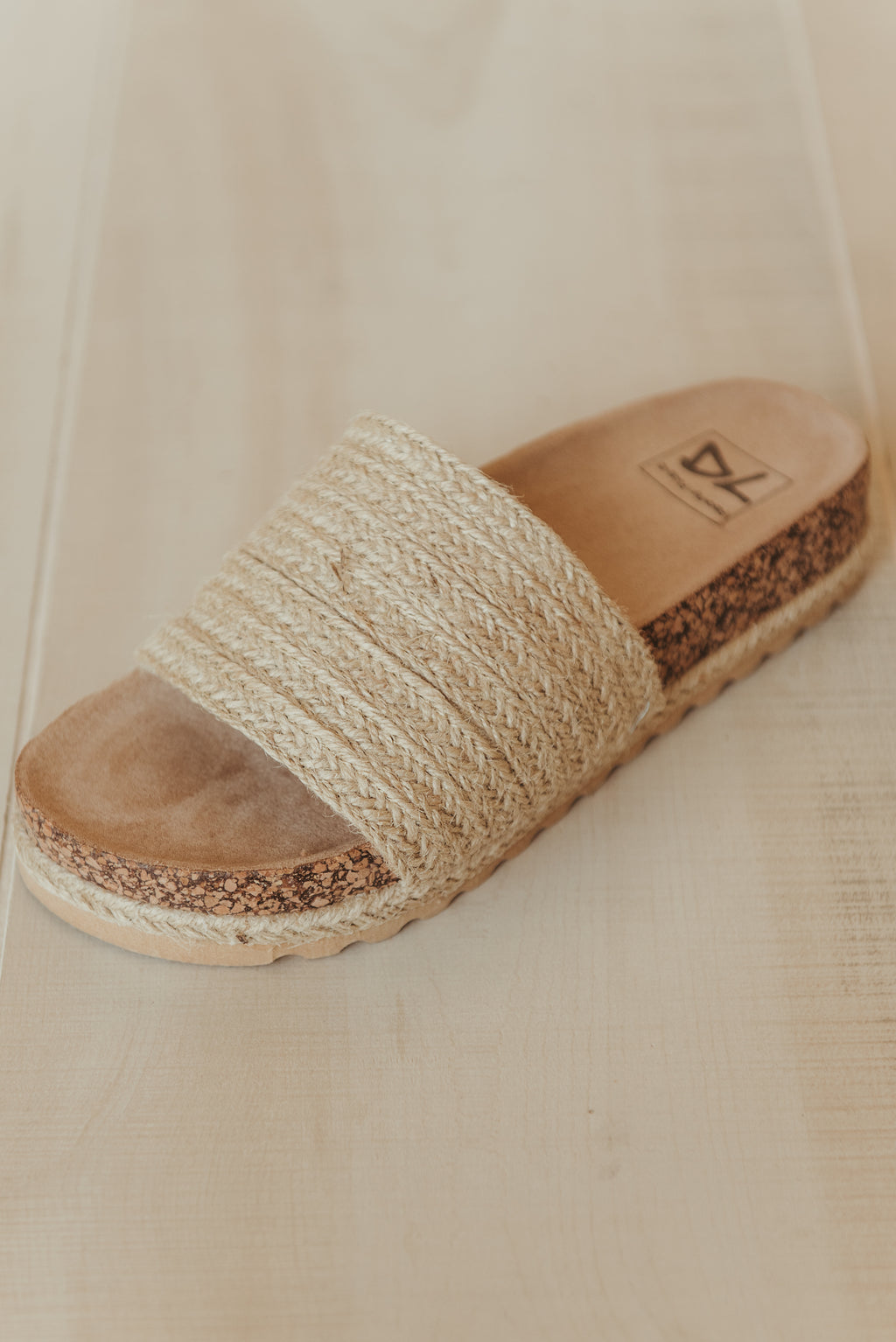 Diamond Jute Sandals ~ Natural