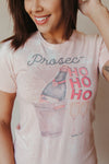 Proseco HO HO HO Tee ~ Light Pink - J. Lilly's Boutique