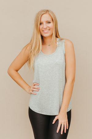 Cutie Tank ~ Heather Grey - J. Lilly's Boutique
