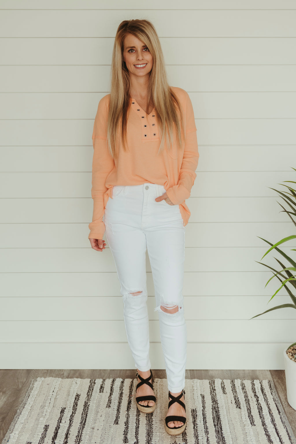 Callie White Distressed Jeans