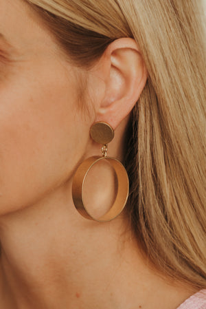 Worn Hoop Earrings