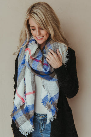 Classic Plaid Blanket Scarf - J. Lilly's Boutique