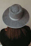 Haven Wide Brim Hat ~ Grey - J. Lilly's Boutique