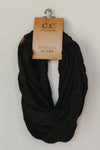C.C Knitted Scarf ~ Black - J. Lilly's Boutique