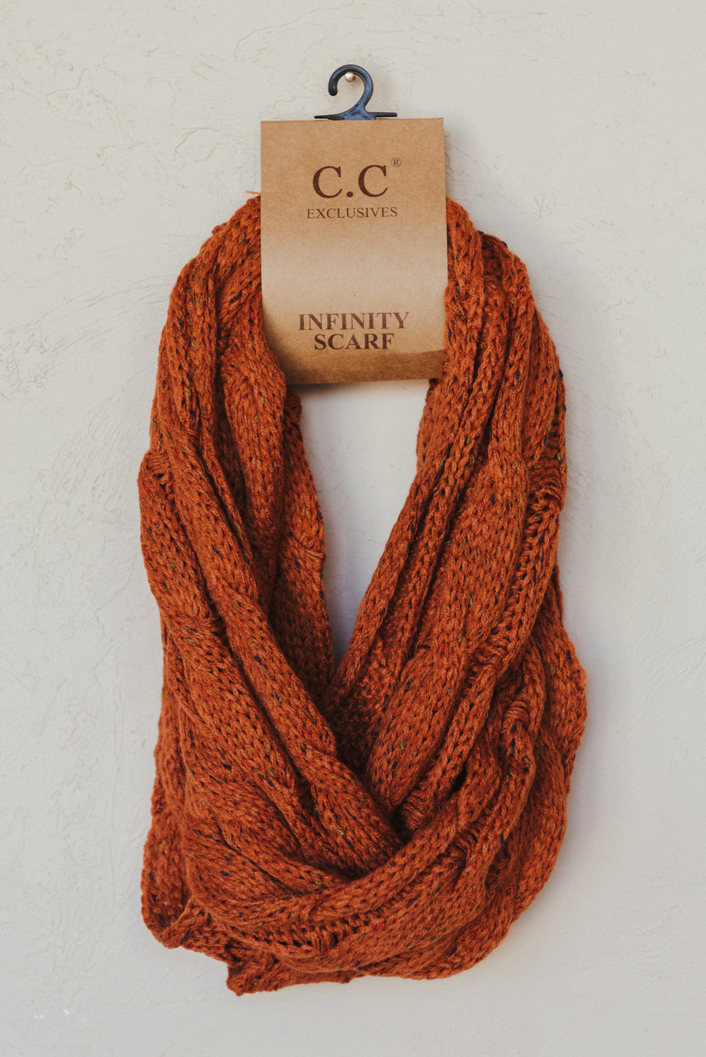 C.C Confetti Scarf ~ Rust - J. Lilly's Boutique