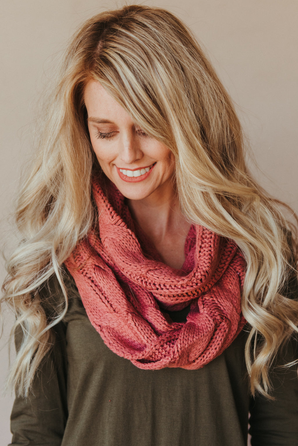 C.C Knitted Scarf ~ Mauve - J. Lilly's Boutique