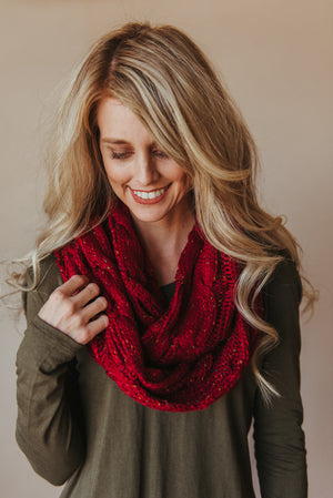 C.C Confetti Scarf ~ Burgundy - J. Lilly's Boutique