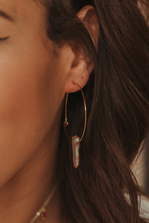 Like A Lot Hoop Earrings ~ Gold Coral - J. Lilly's Boutique