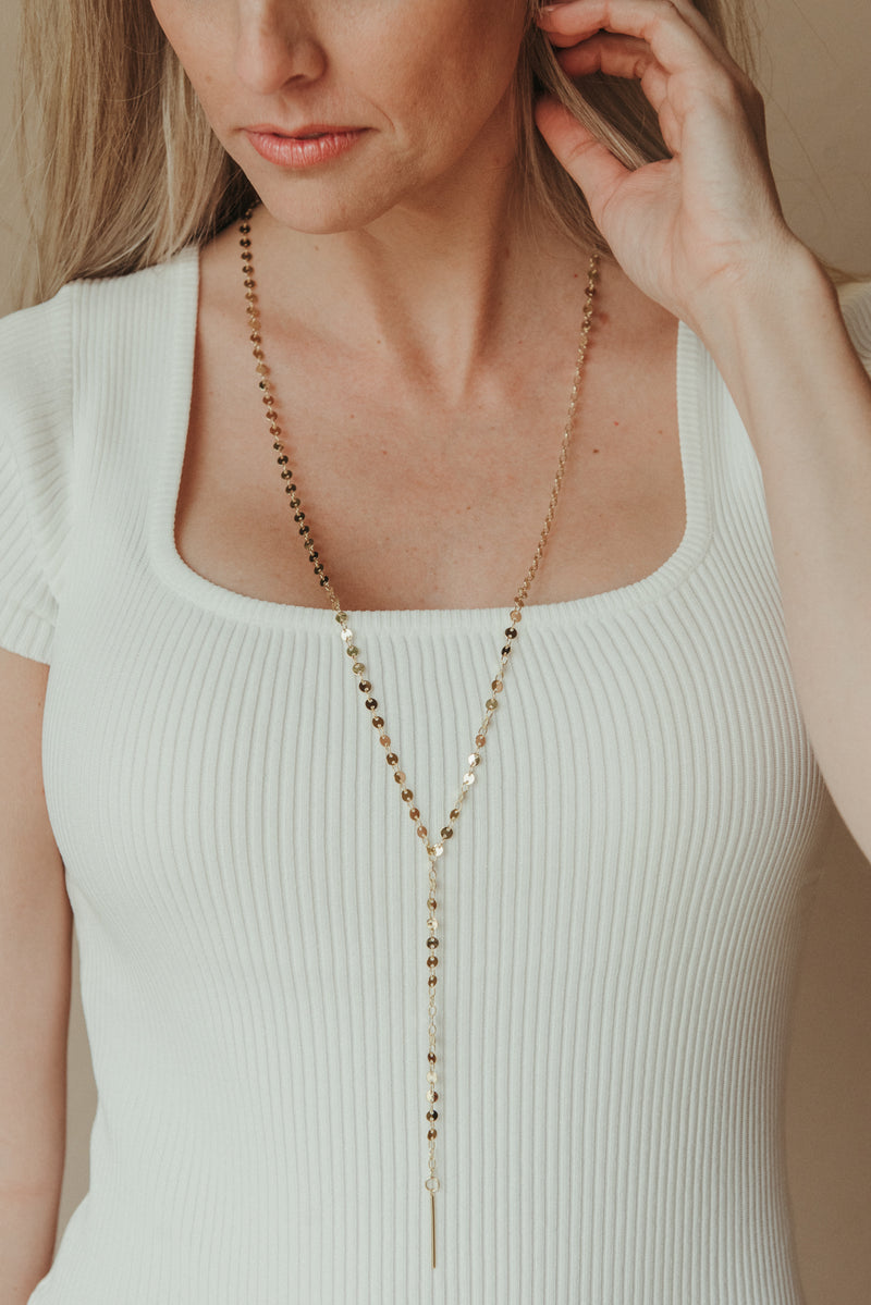 Chain Reaction Necklace ~ Gold - J. Lilly's Boutique