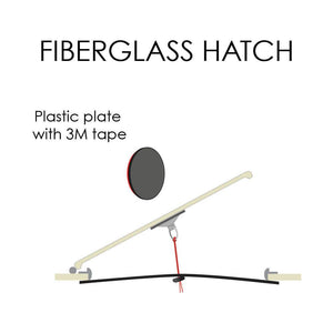 Plate for fiberglass hatches #1542