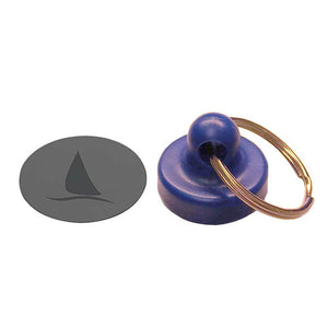 Magnet with keyring and metal plate #9025
