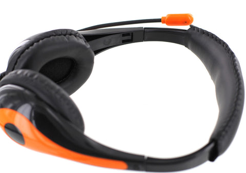 goBulk Stereo Headphone with Microphone + Volume Control (H6, Wipe-Cleanable) - goBulk.com