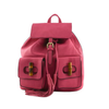 Fuchsia Fringe and Bamboo Backpack Photo - Plush Boutique