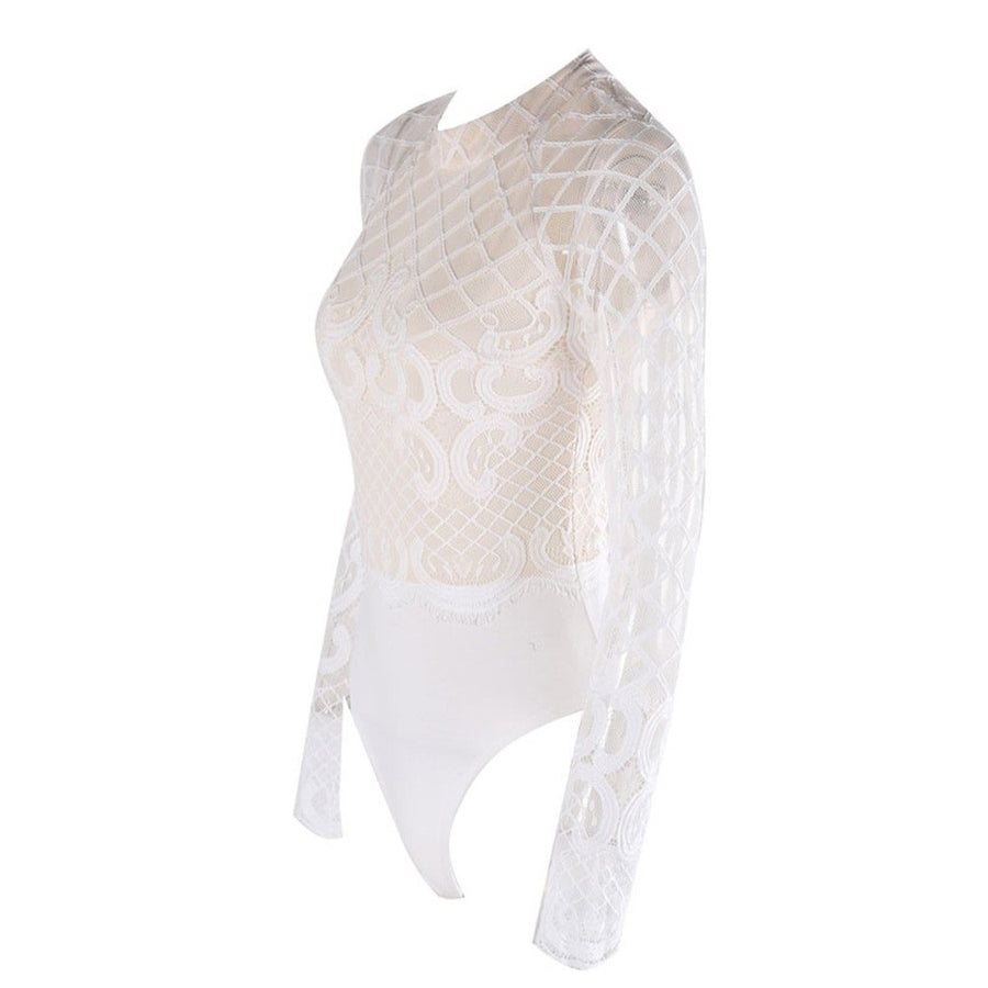 White Bodysuit Photo - Plush Boutique