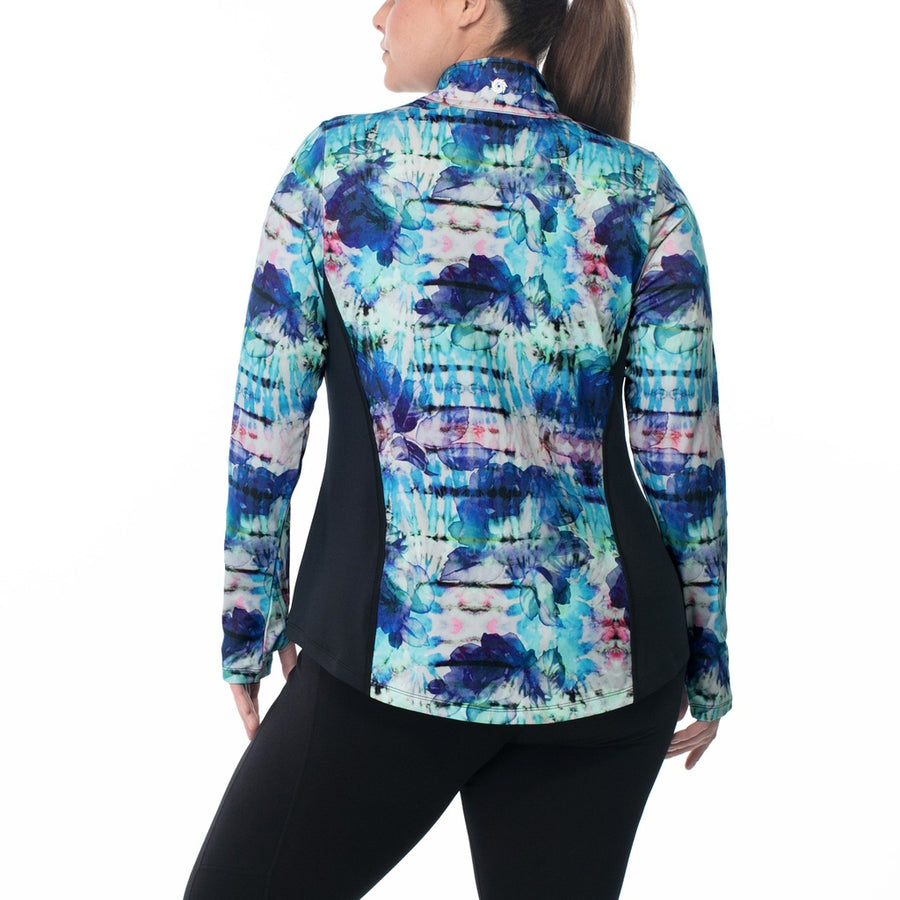 Marisa Print Zip-Up Jacket Photo - Plush Boutique