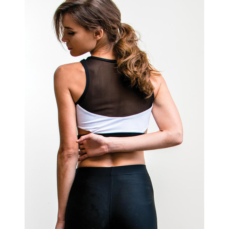 Core Trainer Black and White No Excuse Crop Top Photo - Plush Boutique