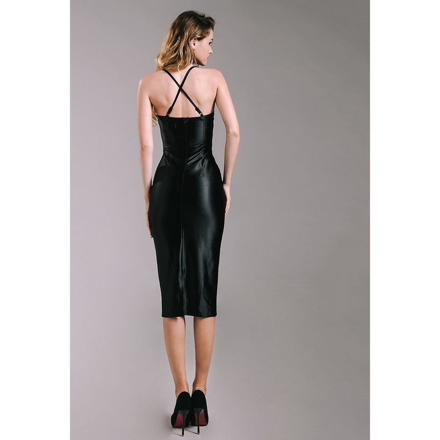 Knee Length Fitted Sexy Dress Photo - Plush Boutique