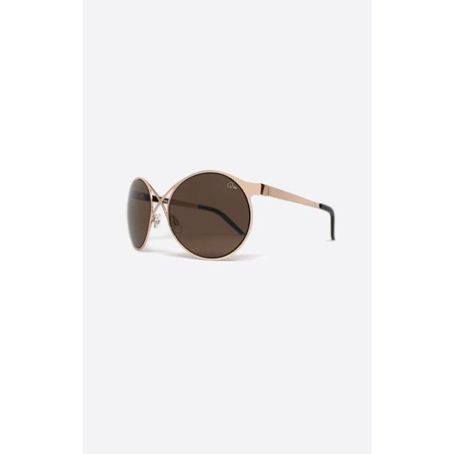 Quay Australia sunglasses Sorry Not Sorry rose gold/brown Photo - Plush Boutique