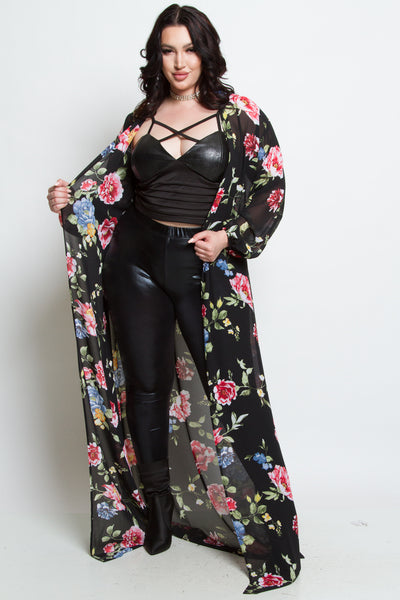 Anika Floral Cardigan Photo - Plush Boutique