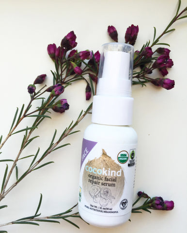vegan coconut oil face serum from cocokind