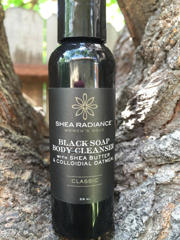 Shea radiance black soap vegan and cruelty free body cleanser