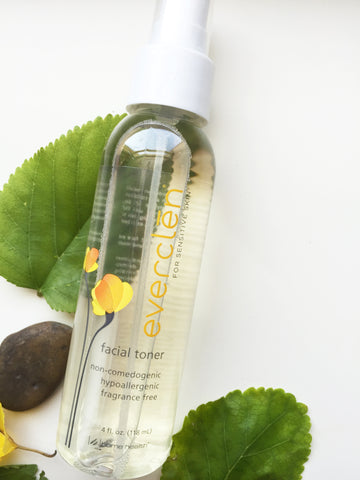 Everclen facial toner for sensitive skin