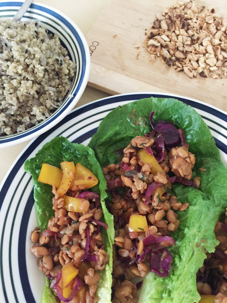 thai basil tempeh wraps green chef vegan recipe