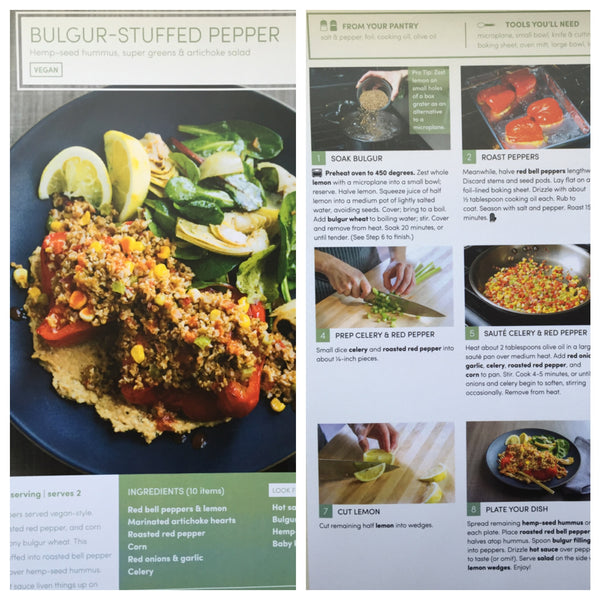 green chef vegan recipe bulgur stuffed pepper