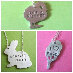 adorable vegan and cruelty free neckaces