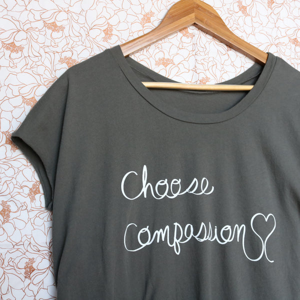 choose compassion vegan shirt