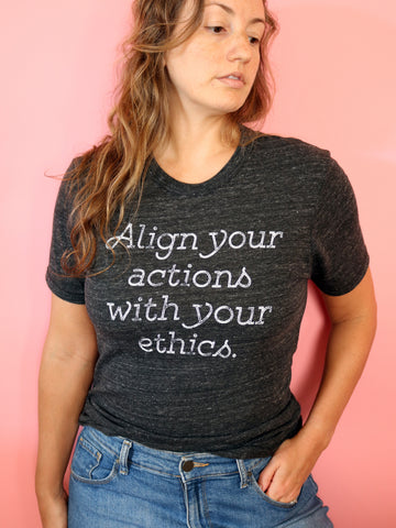 vegan shirt threads for love