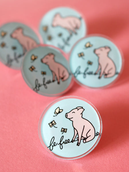 be free vegan pig pin threads for love