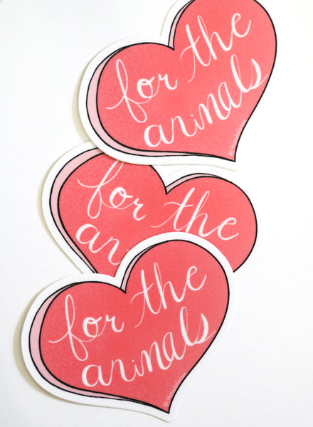 for the animals vegan sticker threads for love