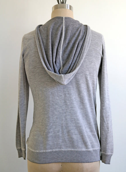 upcycled vegan knit hoodie threads for love