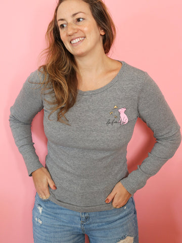be free upcycled long sleeve threads for love