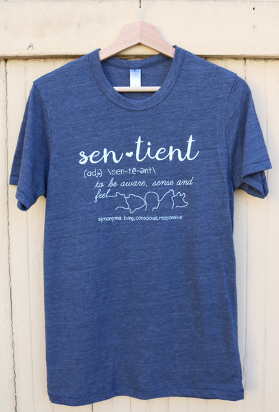 sentient vegan eco-friendly shirt