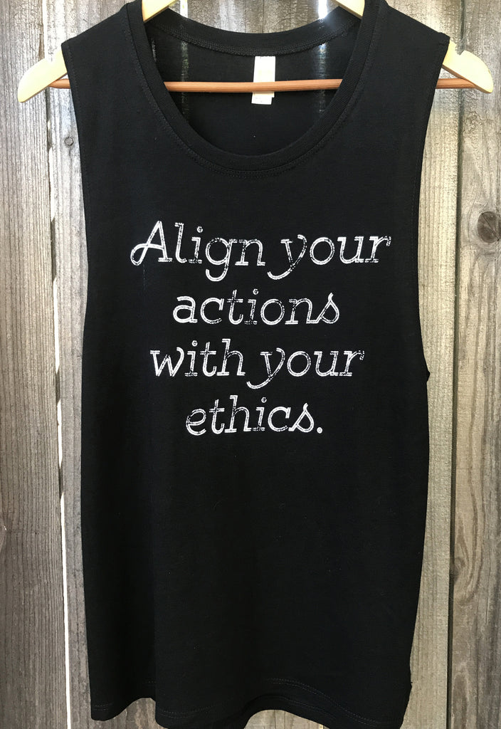 f6c4c72908af1 Align Your Actions  align your actions with your ethics vegan eco-friendly  tank ...