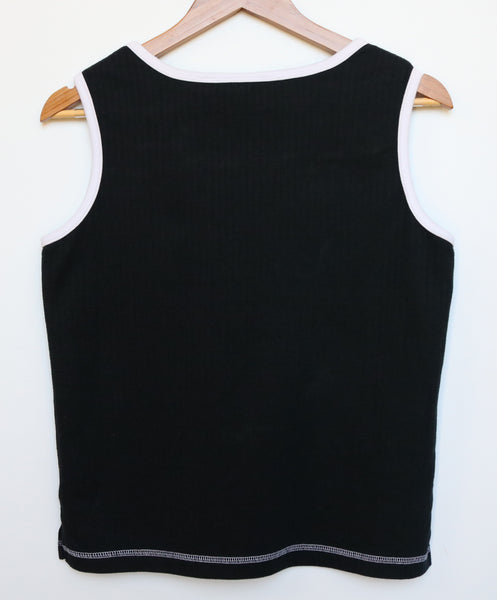 upcycled vegan tank back